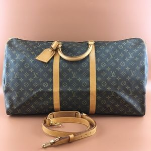 Preowned LV Keepall Bandouliere 60 with Strap
